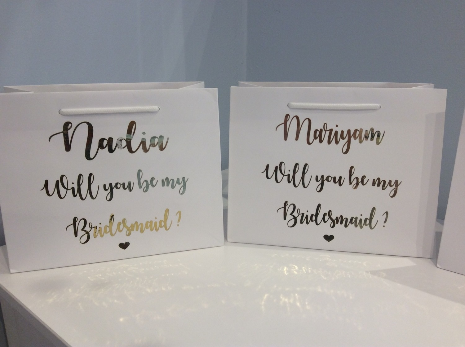 Proposal gift bags