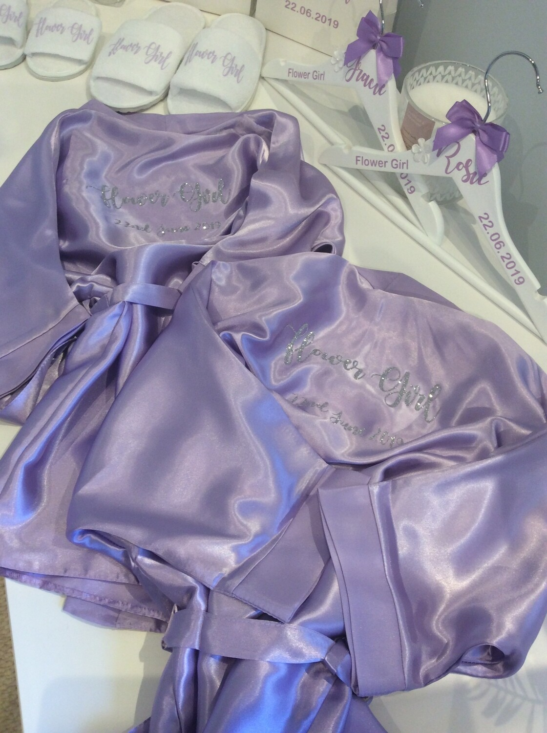 Personalised children's high shine satin robes