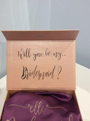 Proposal gift box with robe