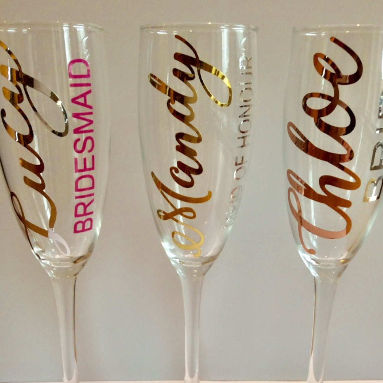 Personalised Champagne flutes SALE