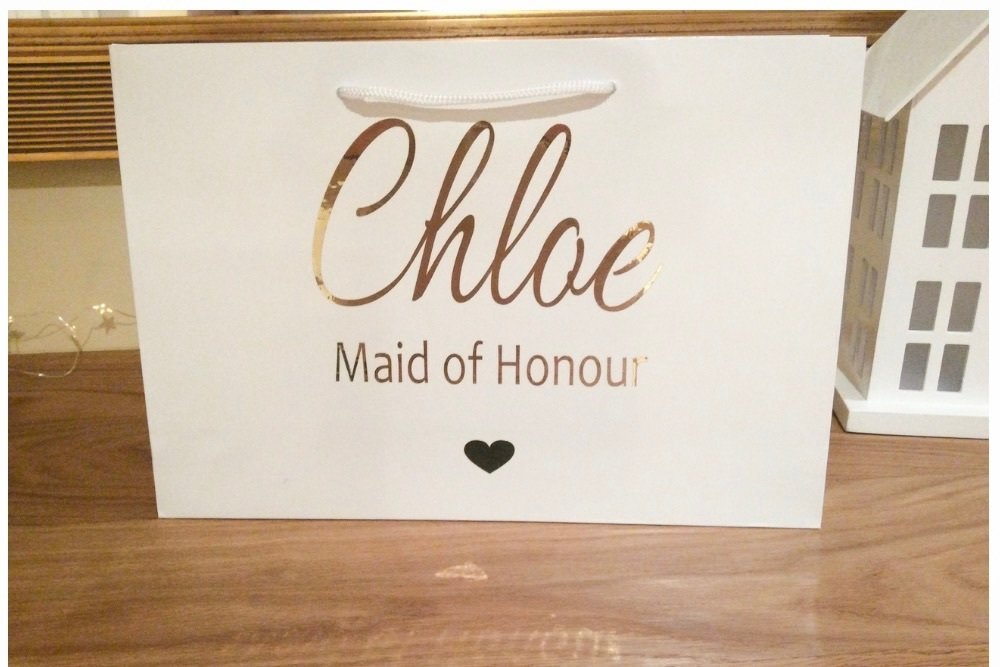 Personalised boutique gift bags