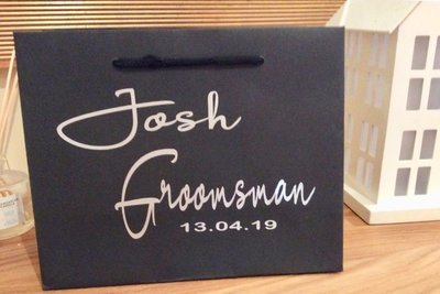 Personalised black boutique bags