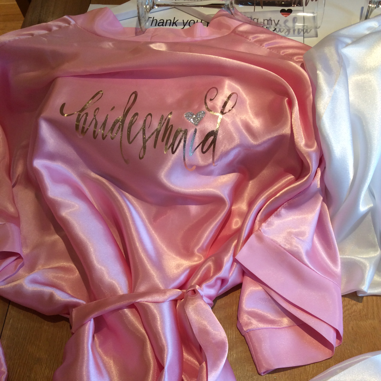 Personalised Silky dressing gown