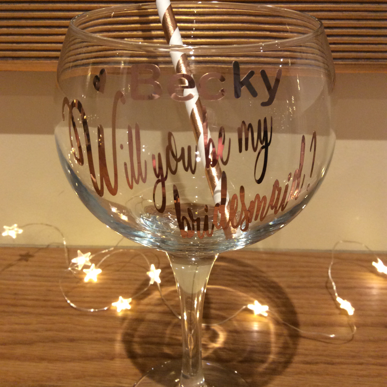 Will you be my....gin glasses