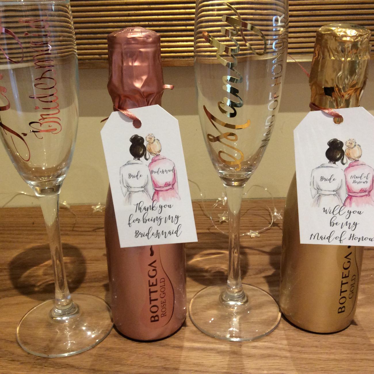 Champagne flute + Bottle of Bottega