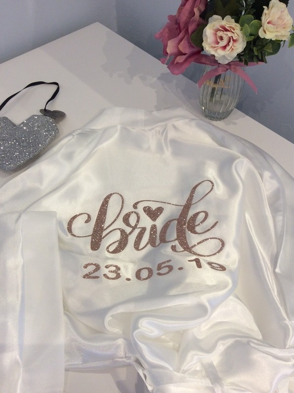 Personalised high shine Satin dressing gown