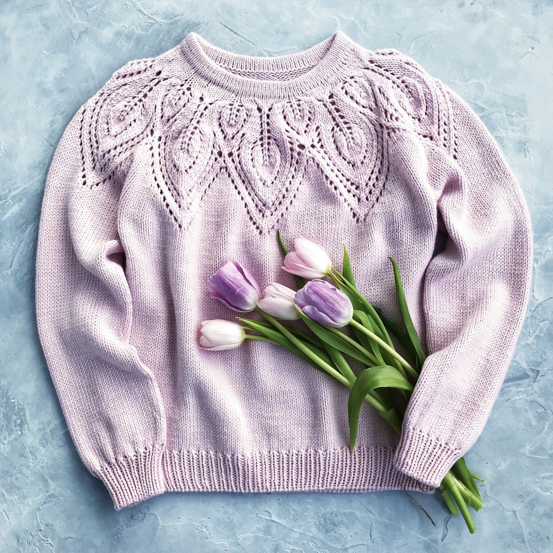 """Мастер-класс свитер """"Hello, spring!"""""""