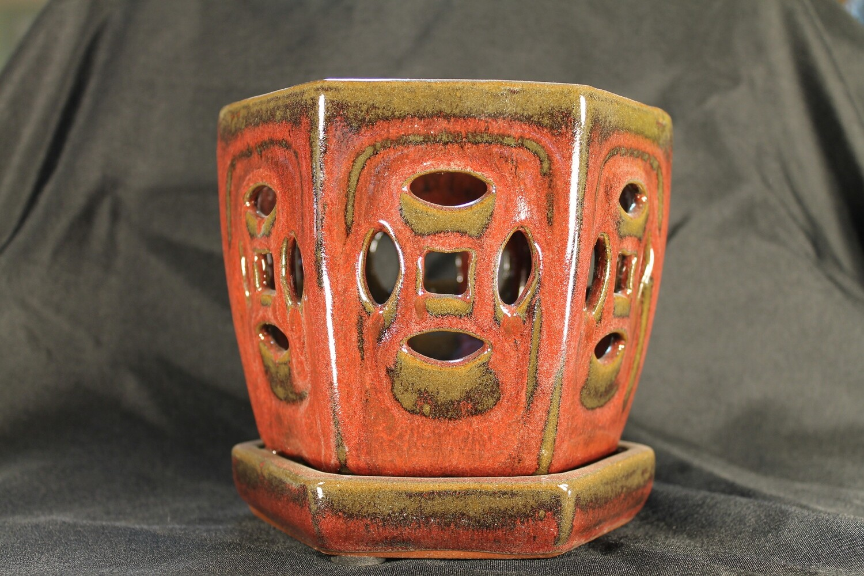 "5"" Decorative Orchid Pot"