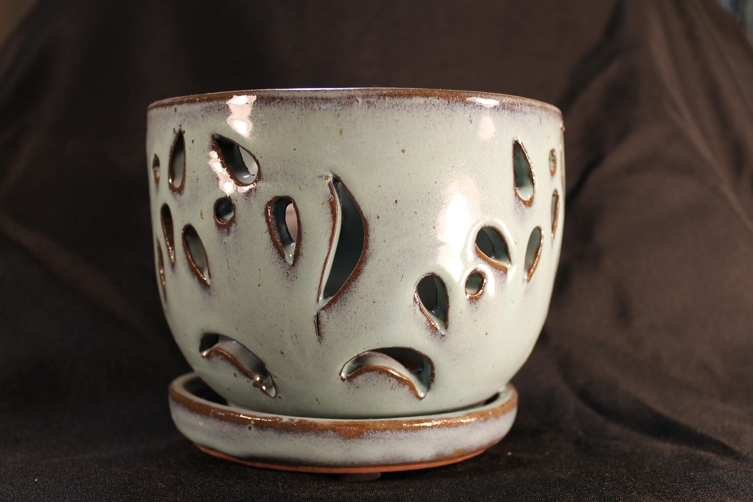 "5"" Round Decorative Orchid Pot"