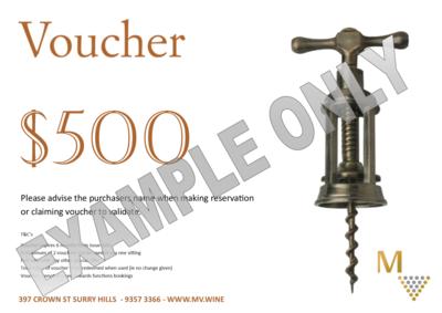 $500 voucher