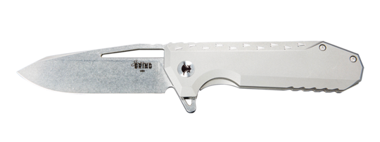 Southern Grind, Penguin Drop Point Satin w/ Titanium Handle Rev. 01