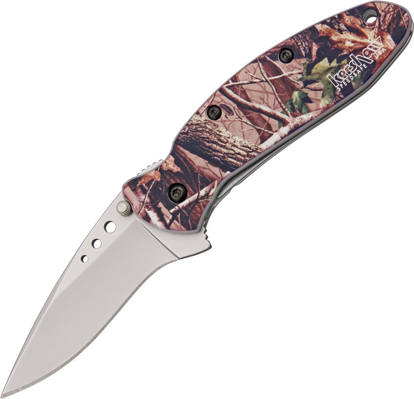 Kershaw, 1620C,  Scallion Assisted, Mossy Oak Handle, Bead Blast Plain