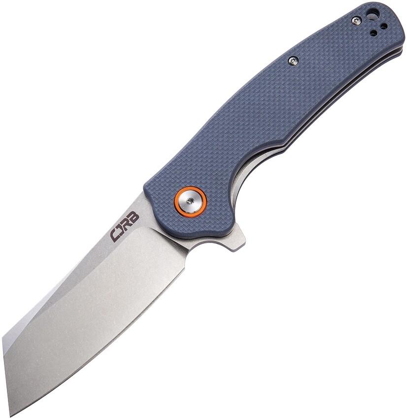 CJRB, J1904-GYF, Crag, Grey G-10 Handle, D2 Steel Blade