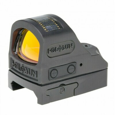 Holosun, HE508TRD, Titanium Open Reflex Sight, Red Circle Dot/Solar Panel