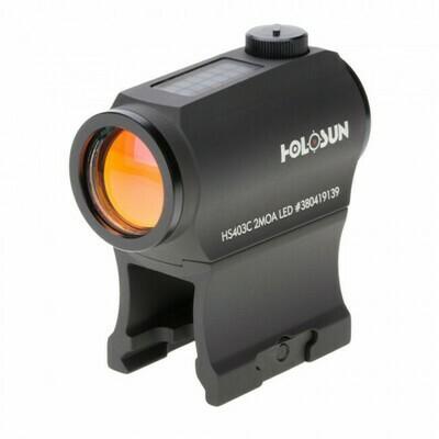 Holosun, HS403C, Classic Micro Reflex Sight- Dot/Solar Panel/Shake Awake