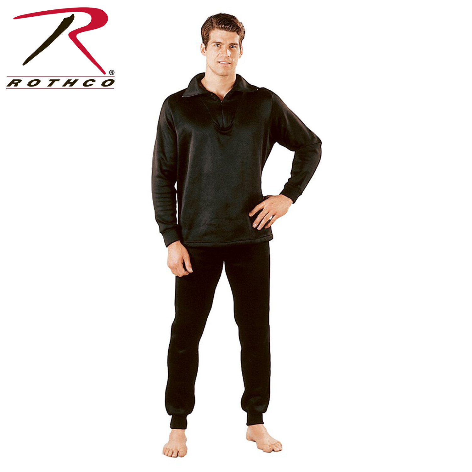 Rothco, 6245, Black Extended Cold Weather Poly Bottoms