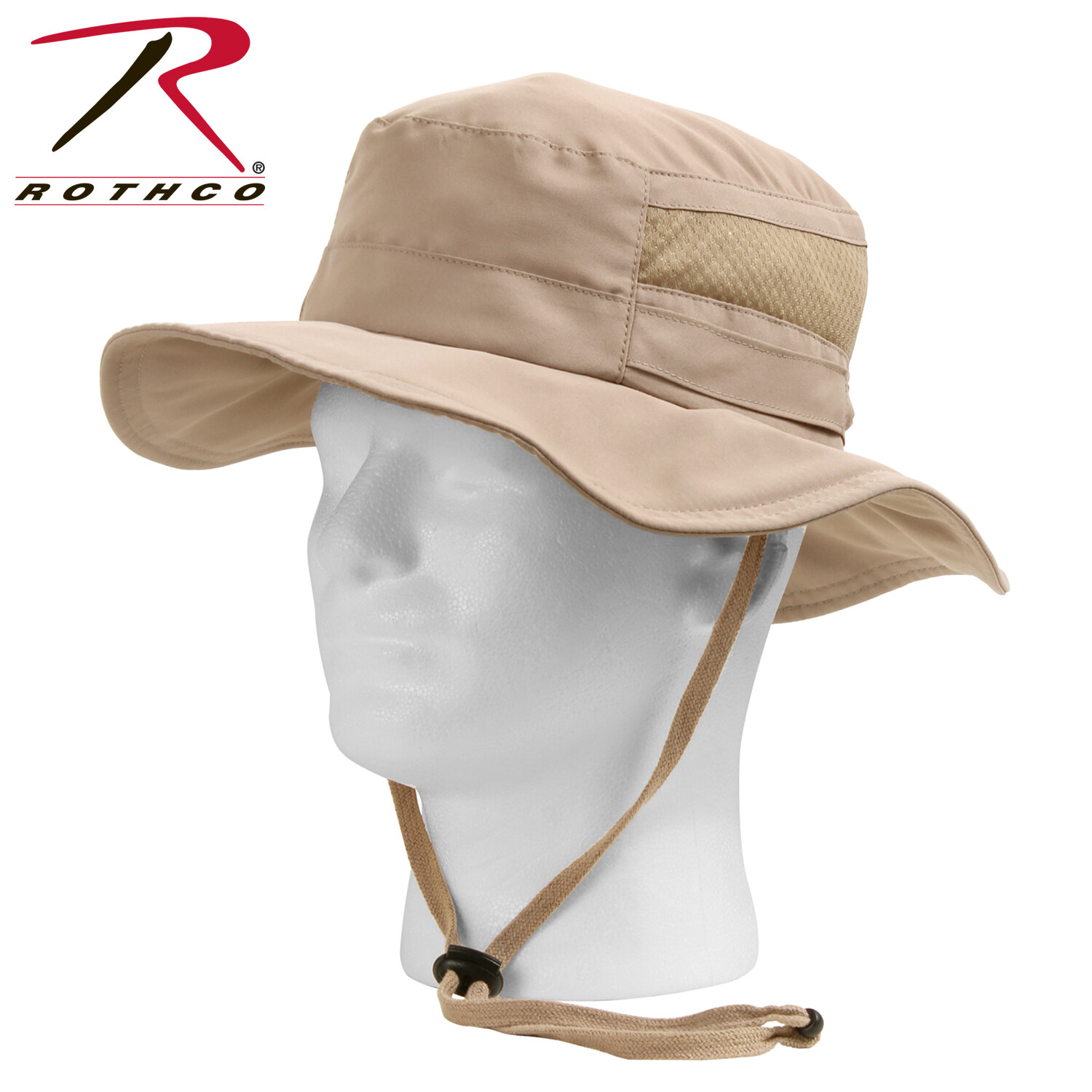 Rothco, 59555, Khaki Lightweight Adjustable Mesh Boonie Hat