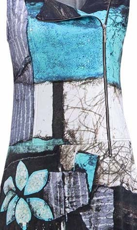 Simply Art Dolcezza: Ocean Breeze Orchid Asymmetrical Zip Dress