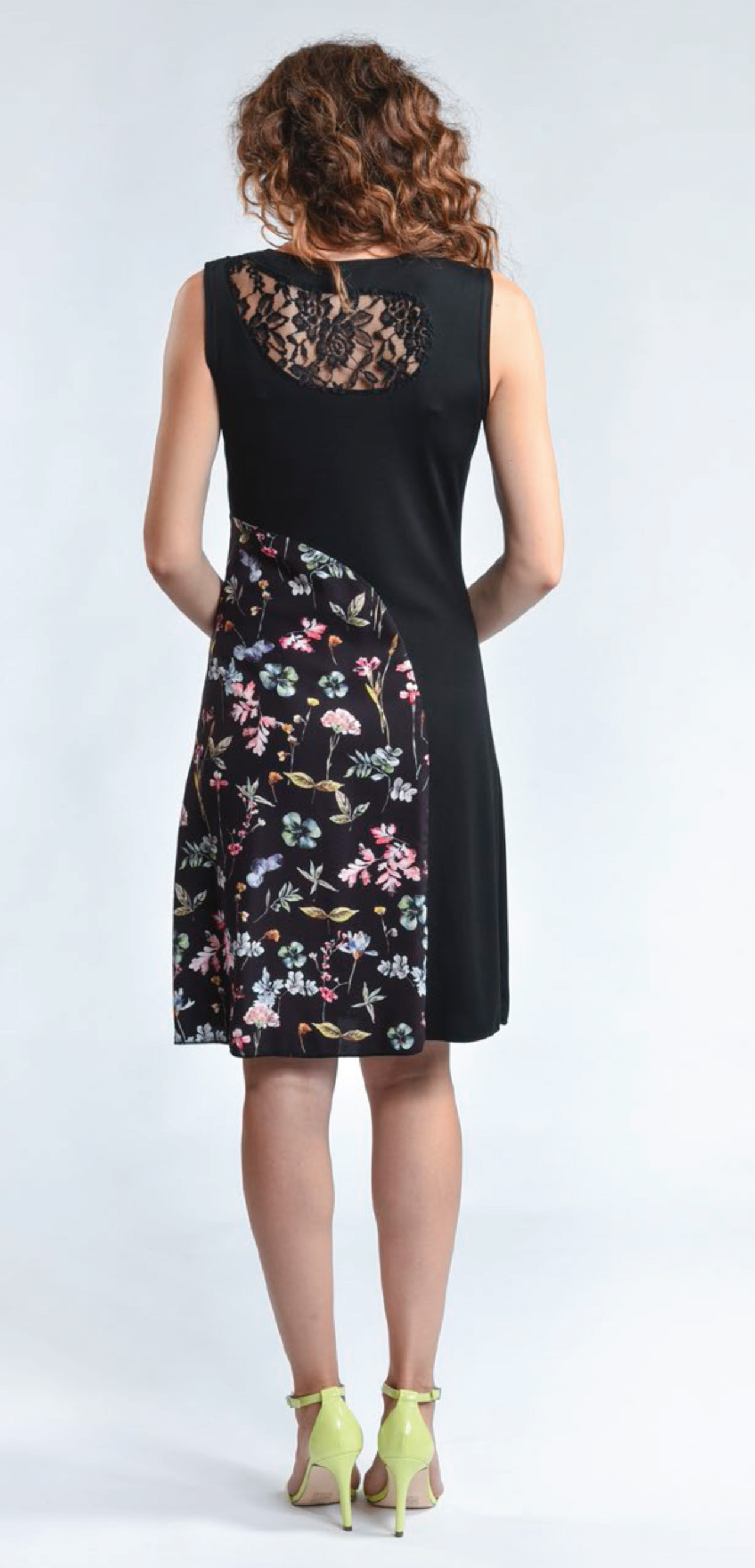 Myco Anna: Patchwork Of Flowers Eco Asymmetrical Dress (Few Left!)