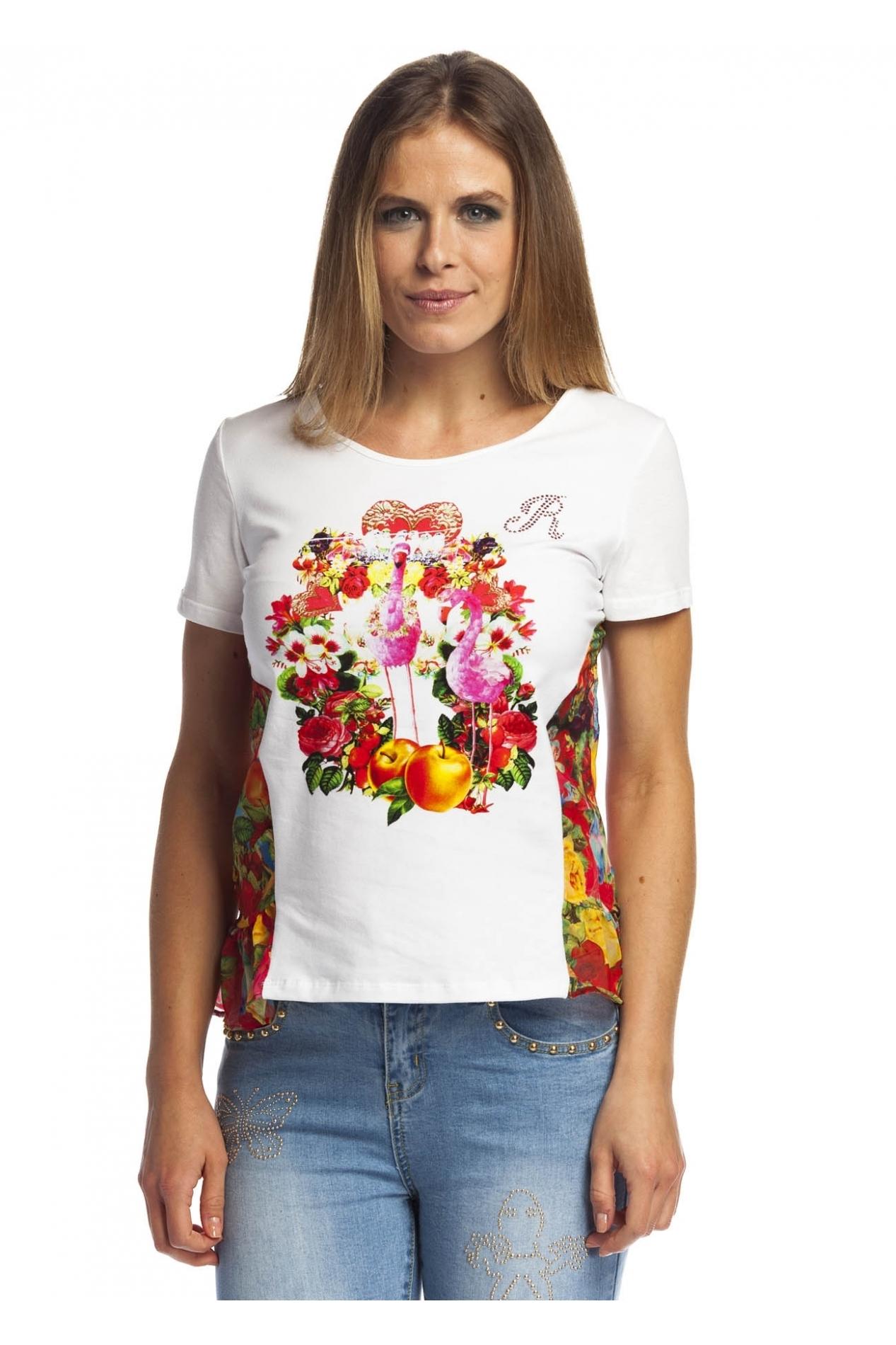 Rosalita McGee: Wild Strawberry Patch Asymmetrical Ruffle Tunic RM_ROSIE_TUNIC