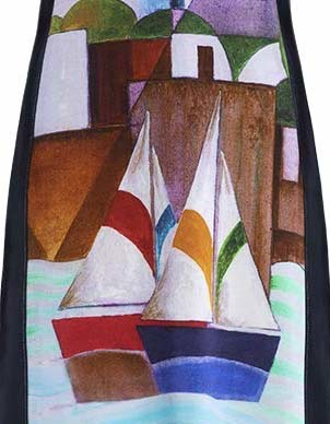 Simply Art Dolcezza: Sandycove Harbor Abstract Art Flared Dress/Tunic SOLD OUT