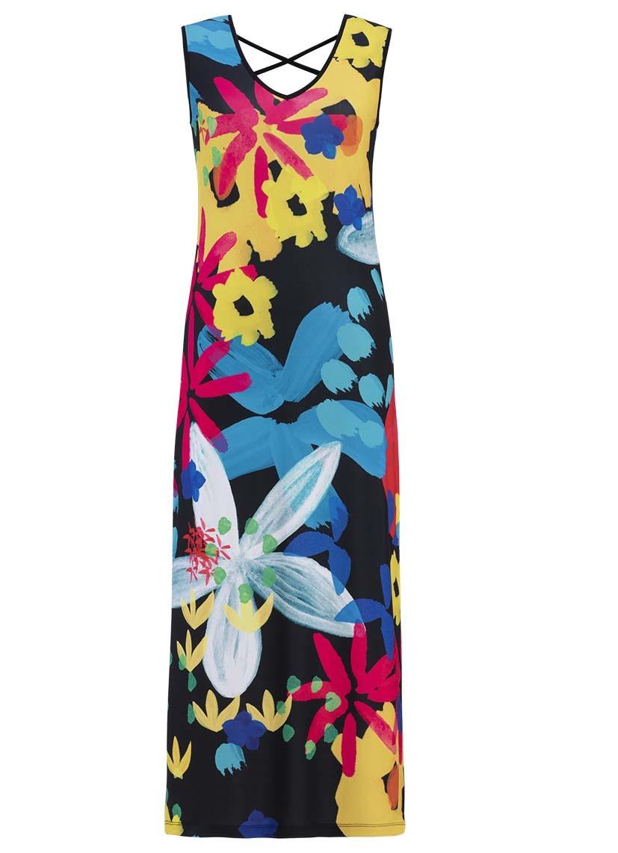 Simply Art Dolcezza: Intense Garden Of Zen Abstract Art Maxi Dress (2 Left!) DOLCEZZA_SA_19687