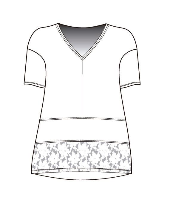 Maloka: Asymmetrical Flower Wavy Flounce Linen Tunic SOLD OUT