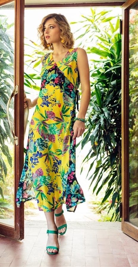 Maloka: Pink Eucalyptus Patchwork Maxi Dress MK_FRIVOLE