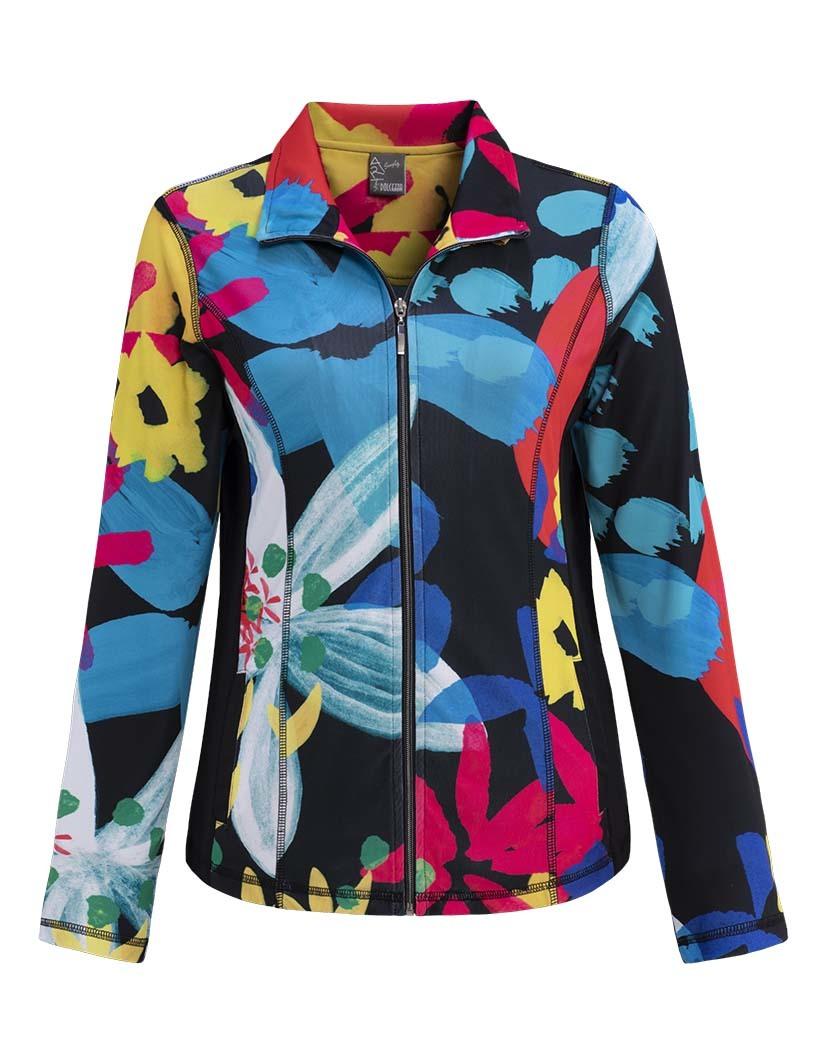 Simply Art Dolcezza: Intense Garden Of Zen Abstract Art Zip Jacket (1 Left!) DOLCEZZA_SIMPLYART_19686