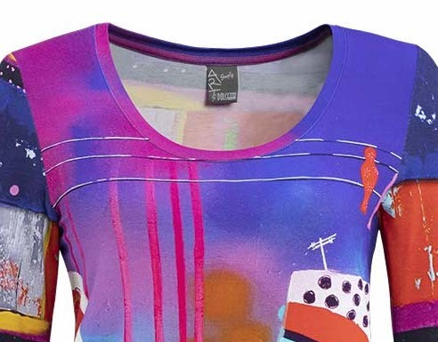 Simply Art Dolcezza: Fuschia Paint Spill Abstract Art Tunic (1 Left!)