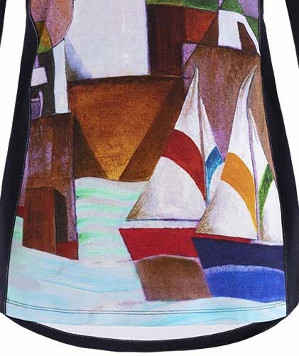 Simply Art Dolcezza: Sandycove Harbor Abstract Art Flared Tunic (2 Left!)
