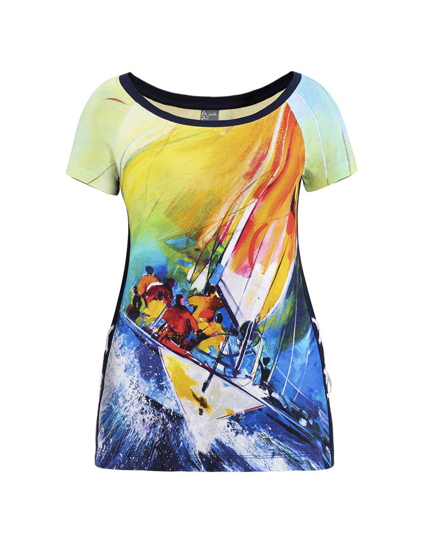 Dolcezza Simply Art: The Grand Depart Criss Cross Side Art Top SOLD OUT