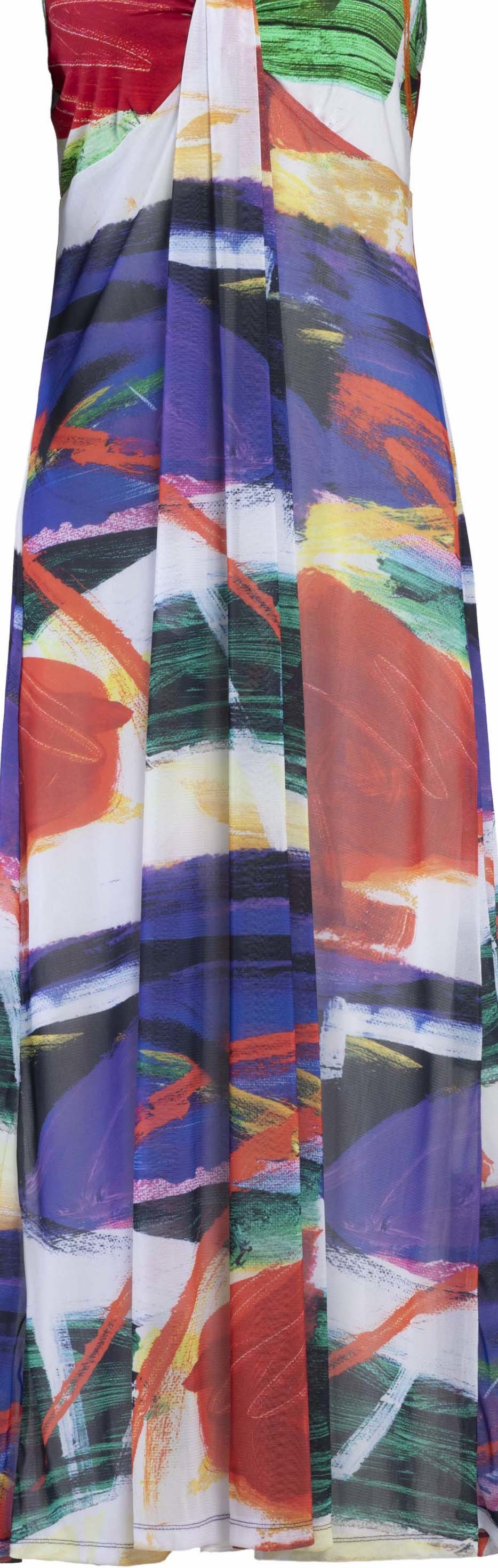 Dolcezza Simply Art: Symphony In Red Abstract Art Maxi Sundress (1 Left!)