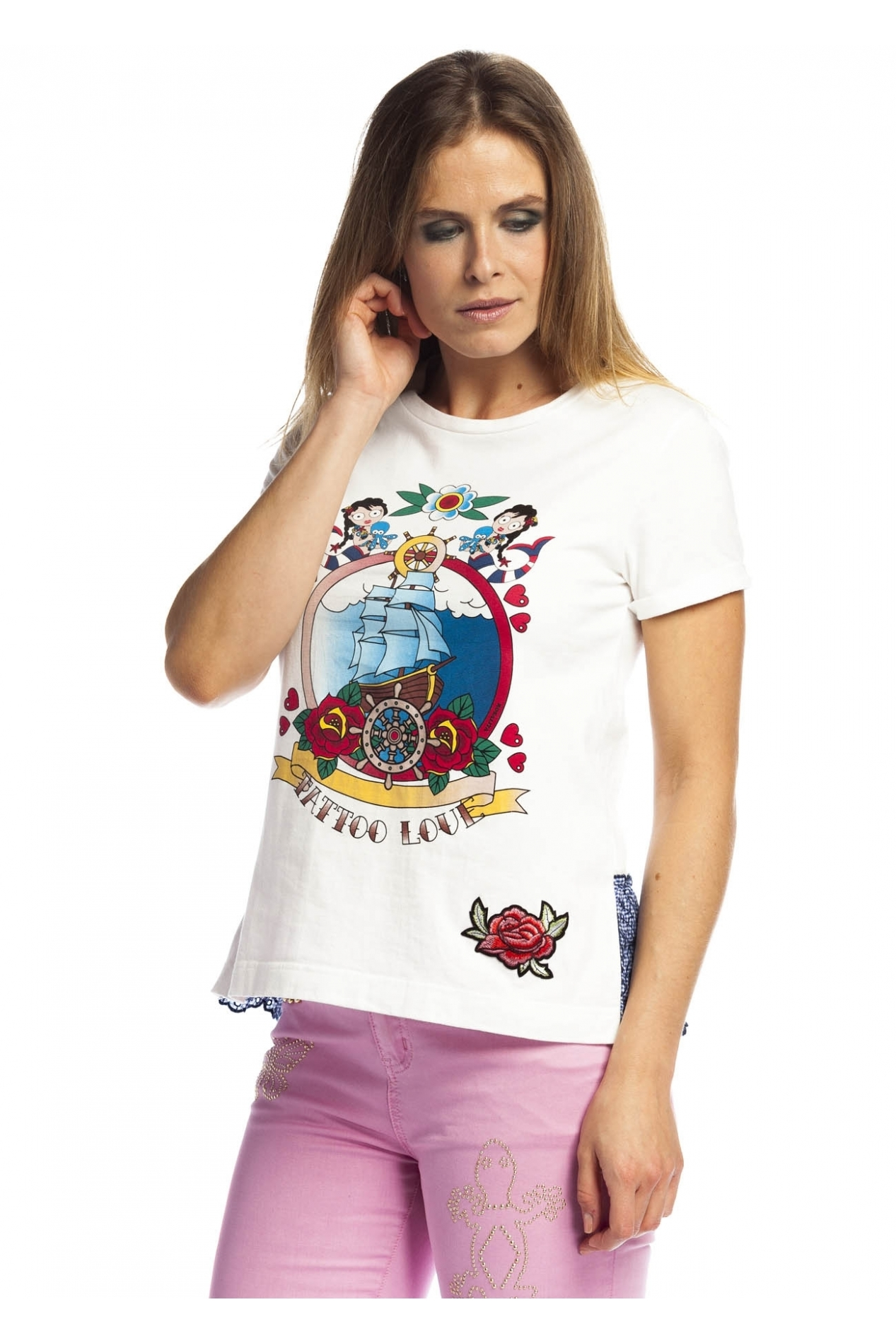Rosalita McGee: Sailor Art Rose Tatt Cotton Top RM_PALOMA