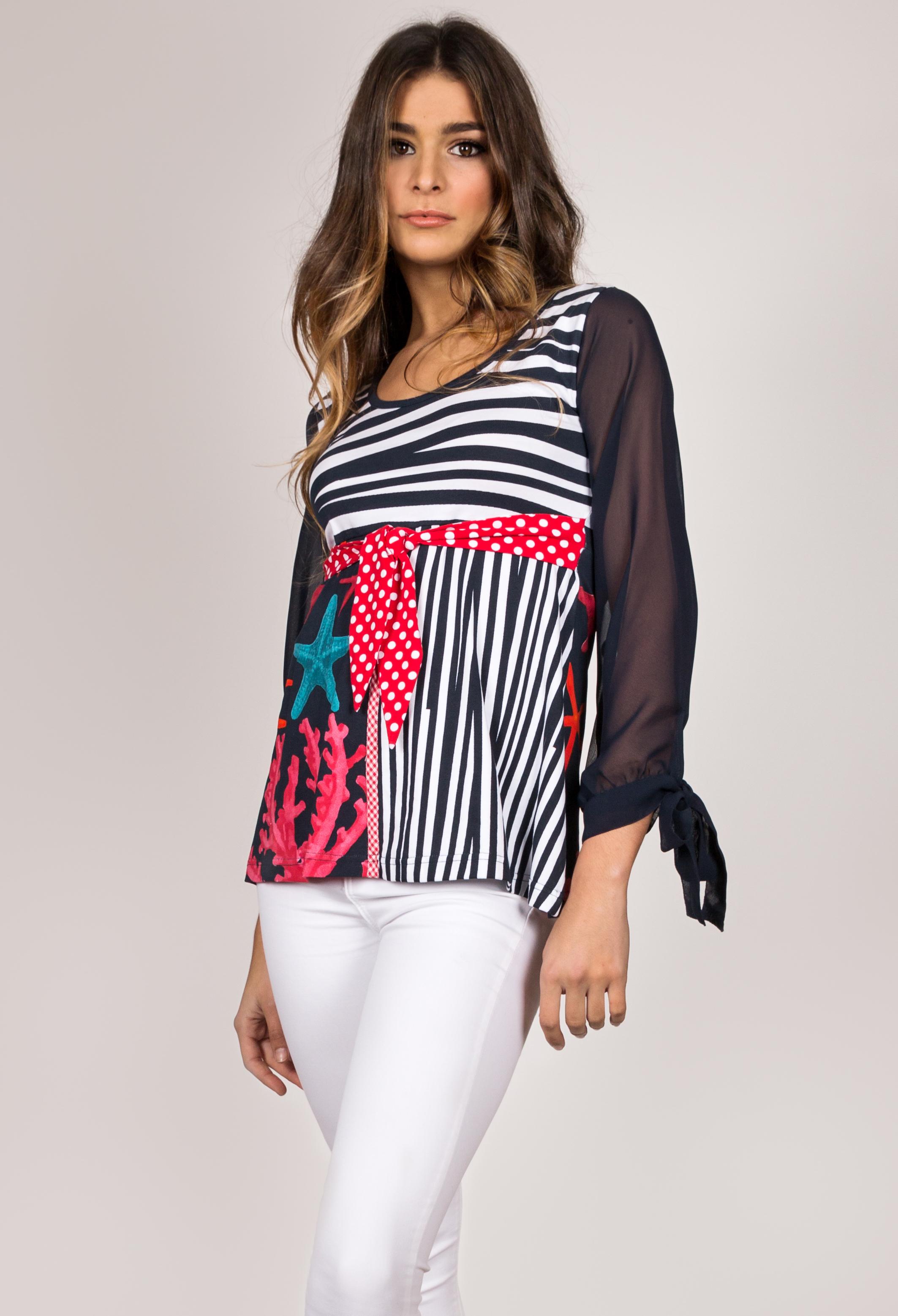 Shoklett Spain: Pink Coral Cotton Tunic Blouse Zoey SHOKLETT_80S19TS