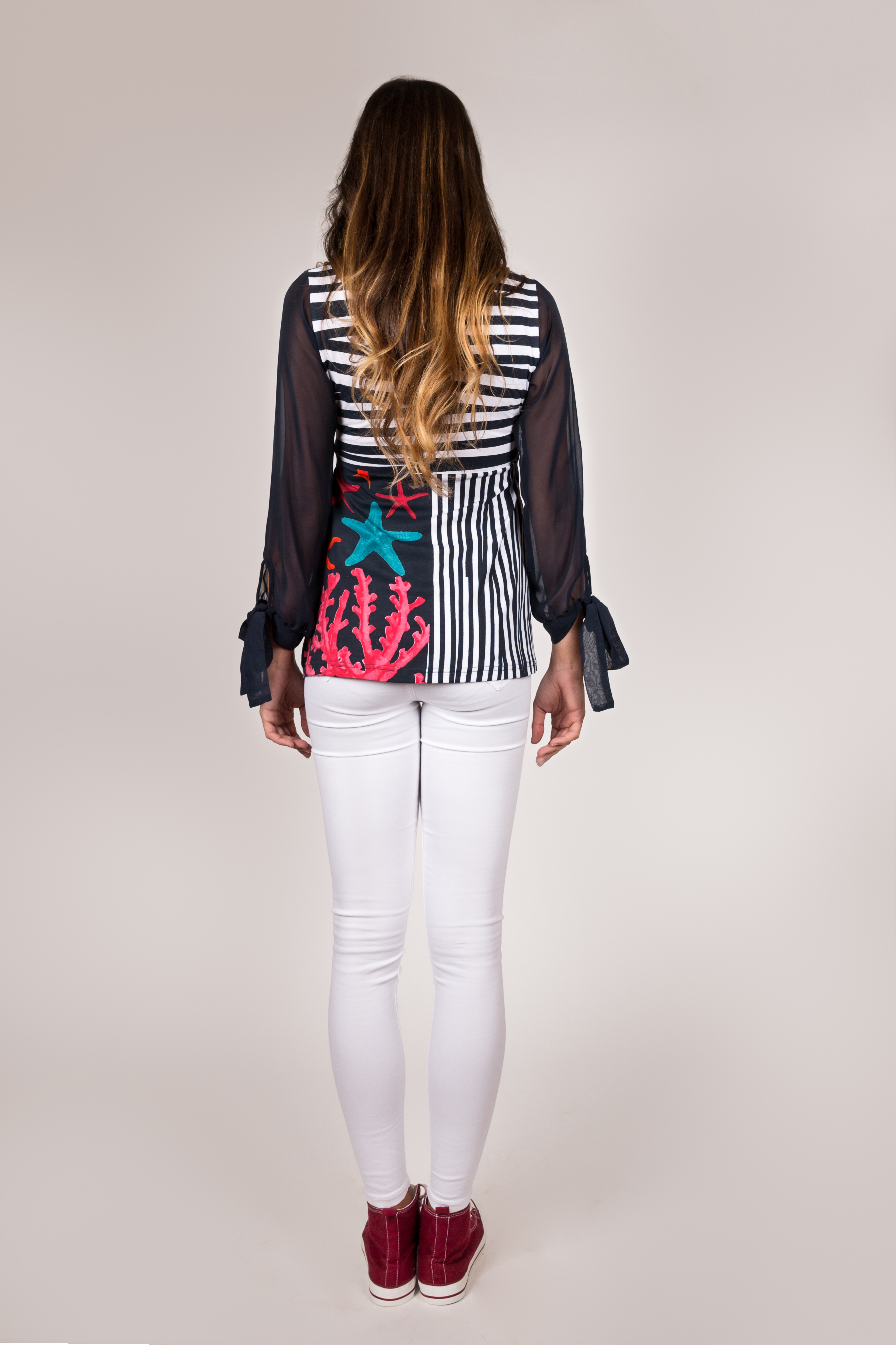 Shoklett Spain: Pink Coral Cotton Tunic Blouse Zoey