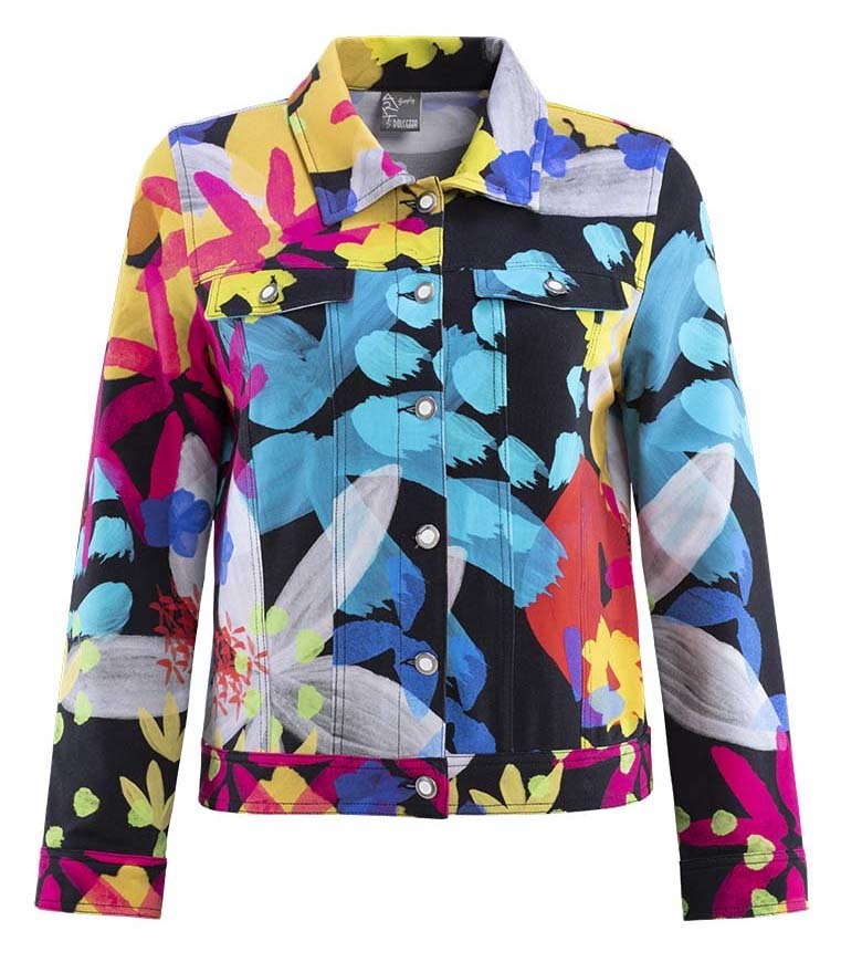 Simply Art Dolcezza: Intense Garden Of Zen Abstract Art Jacket DOLCEZZA_SIMPLYART_19688