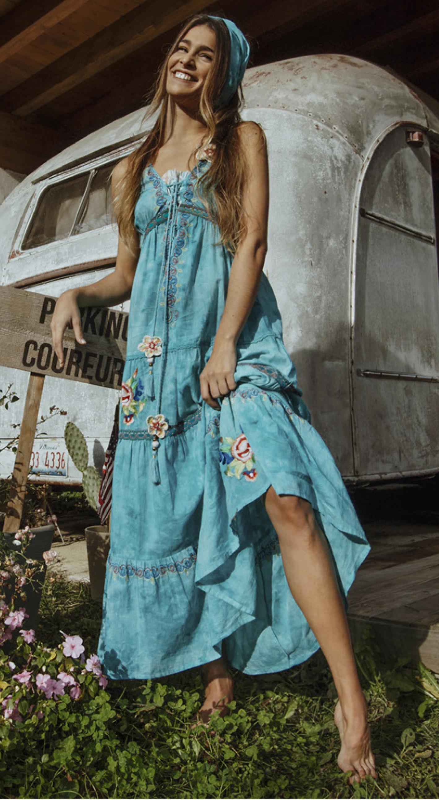 Shoklett: High Low Corset Tied Bodice Sea Flower Maxi Dress Sherlyn