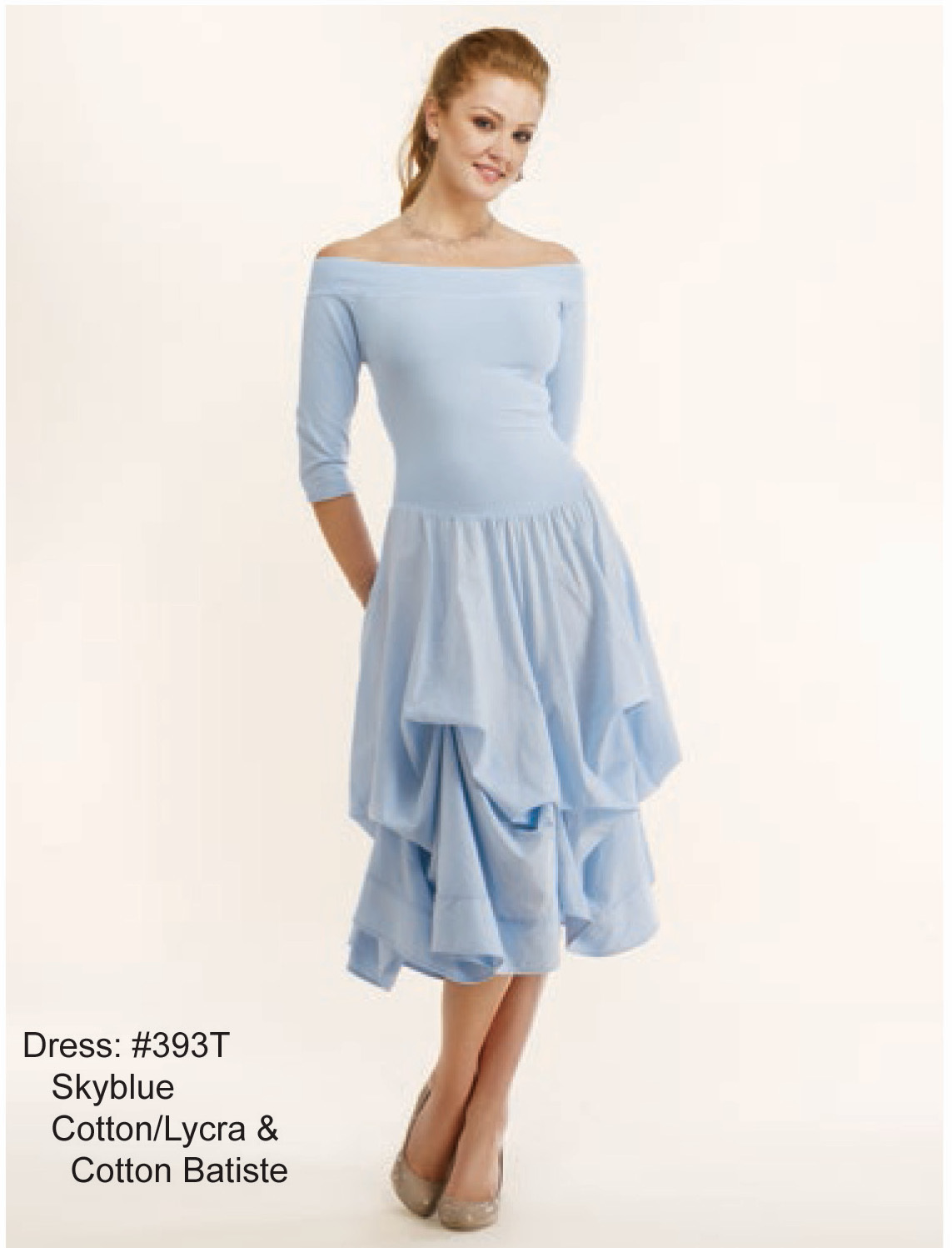 Luna Luz: Tied & Dyed Off The Shoulder Godet Dress (Many Colors, Some Ship Immed & Without Ties Available!)