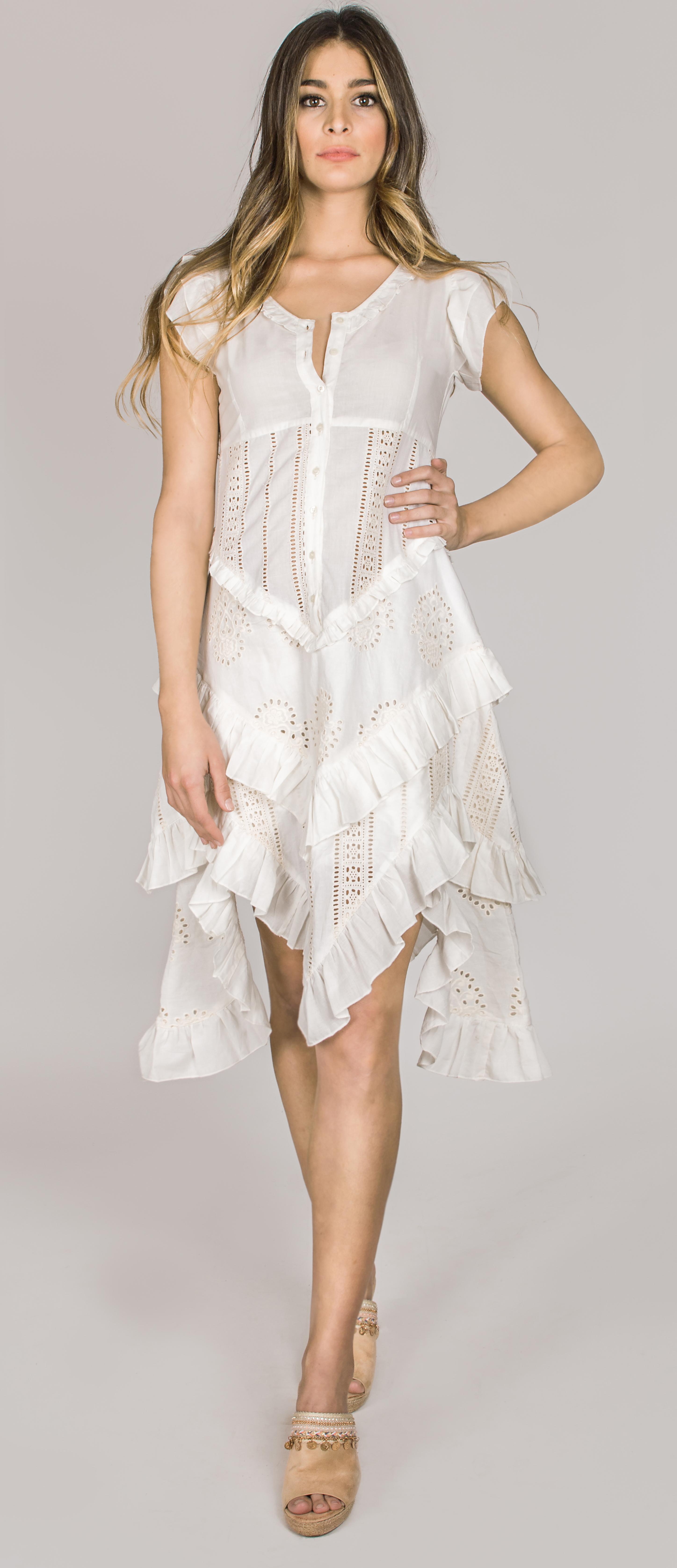 Shoklett Spain: Asymmetrical Princess Alysha Midi Dress SOLD OUT SHOKLETT_10074S19DR