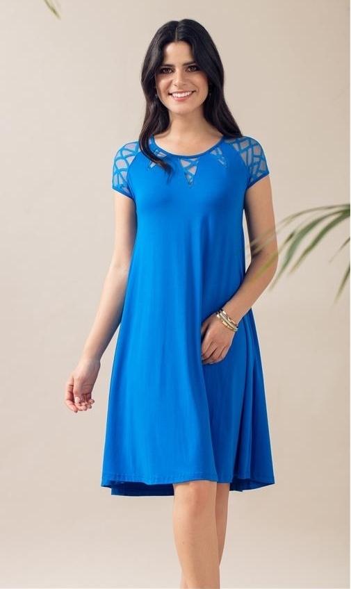 Maloka: Rose Mesh Jersey Flared Midi Dress (More Colors!) MK_LILINE