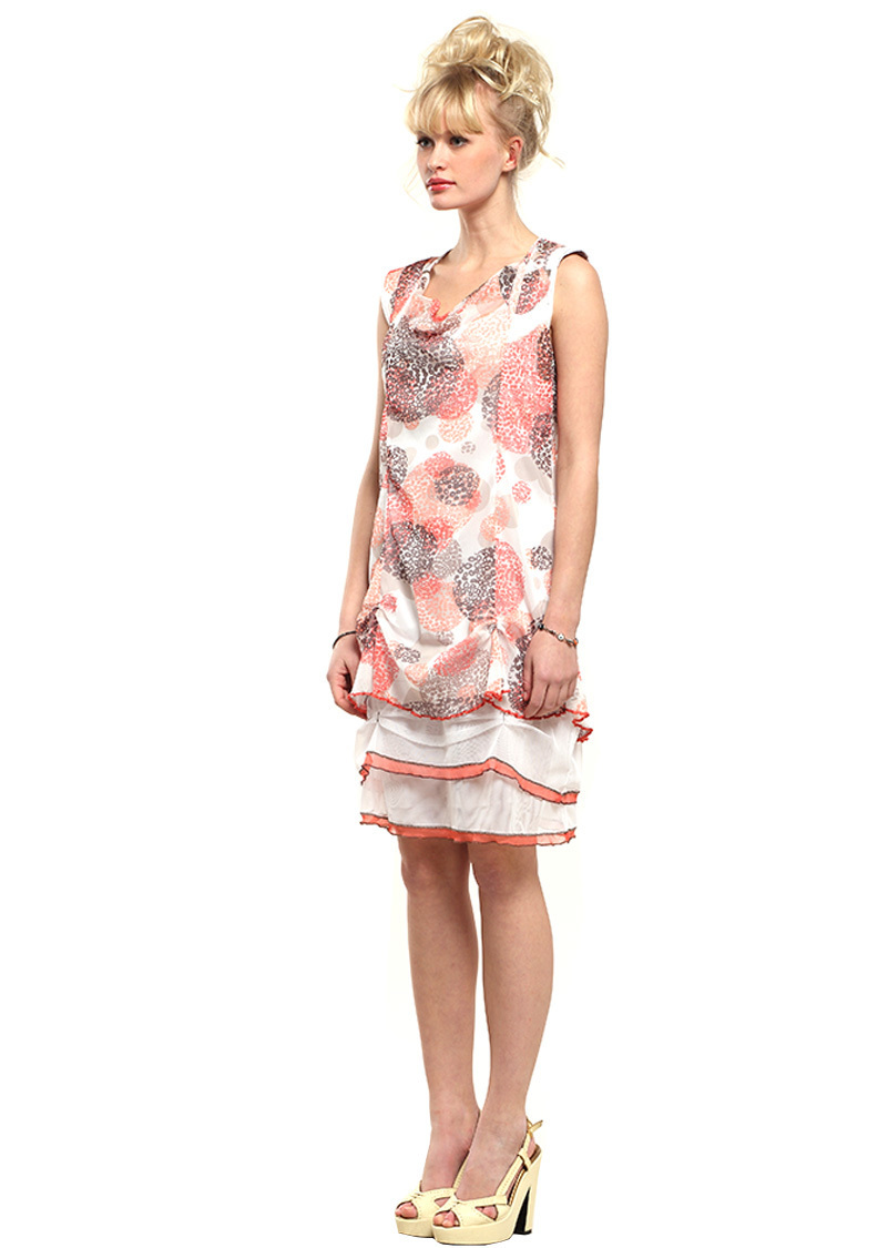 Double Jeu Paris: Sexy Sea Shells Dress (In Coral & Turquoise)