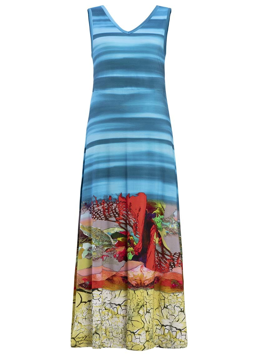 Dolcezza: Under The Sea Coral Scene Art Maxi Dress (1 Left!)