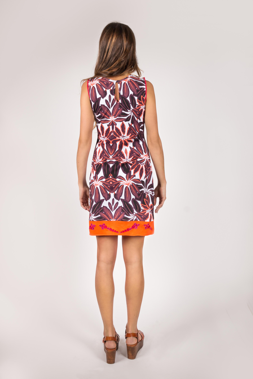 Shoklett Spain: Orange Hibiscus Fit & Flare Dress Samantha