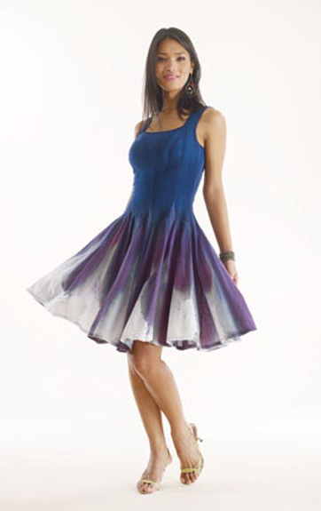 Luna Luz: Sensual Feather Dyed Dress (More Colors, Some Ship Immed!)