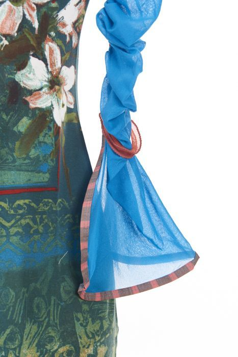 Save The Queen Italy: Monet Garden With Tulip Sleeves Dress