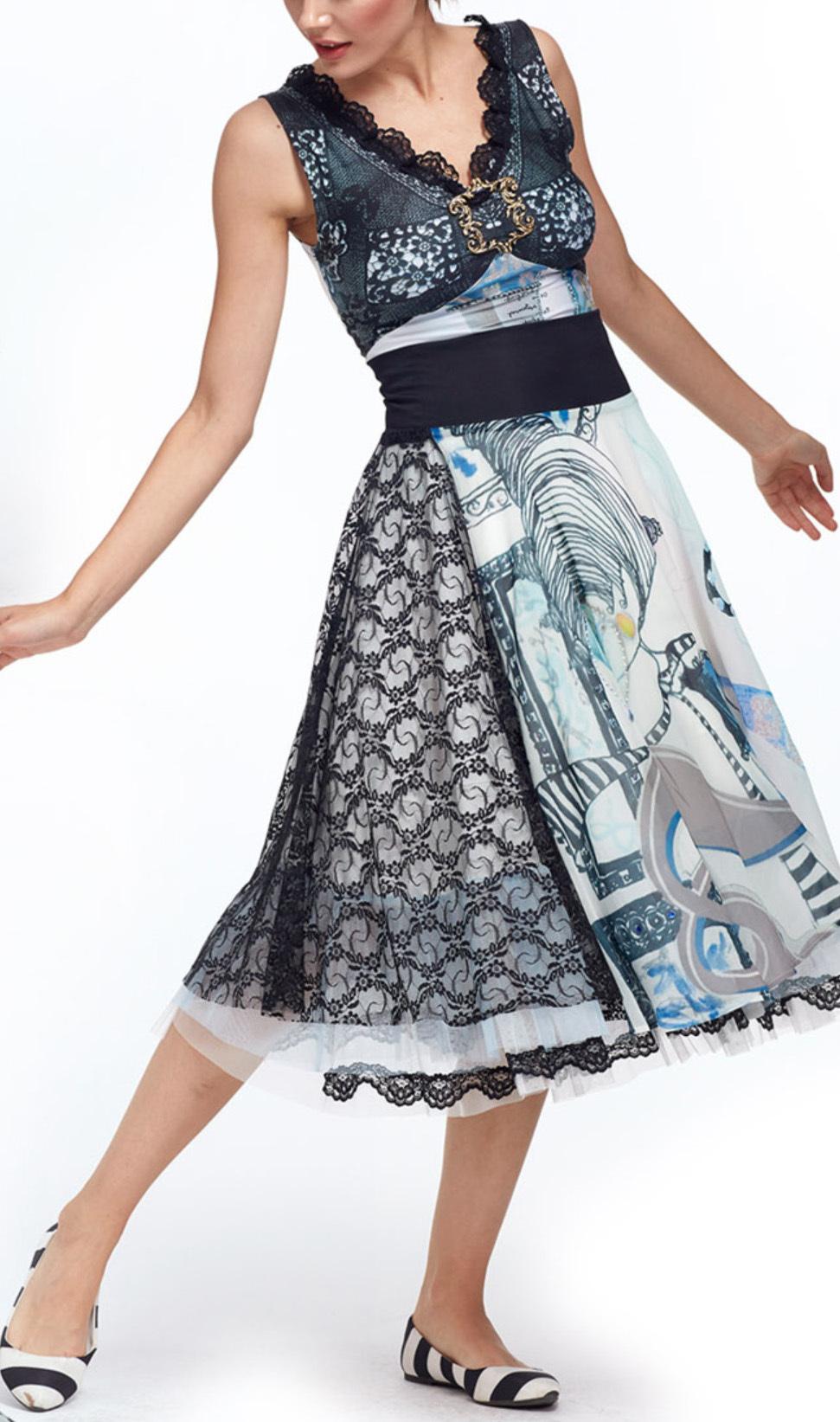 IPNG: Love Me Black Shiffon Midi Skirt