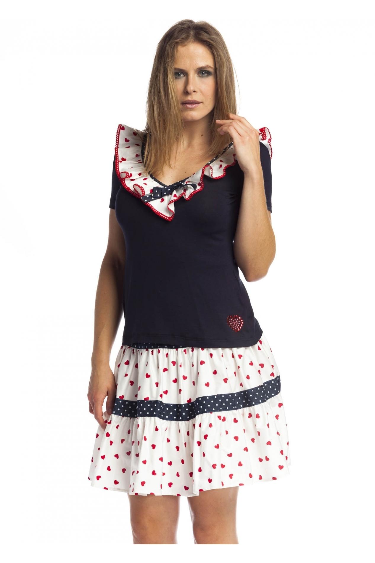 Rosalita McGee: Playful Sailor Tiara Cotton Top (2 Left!)
