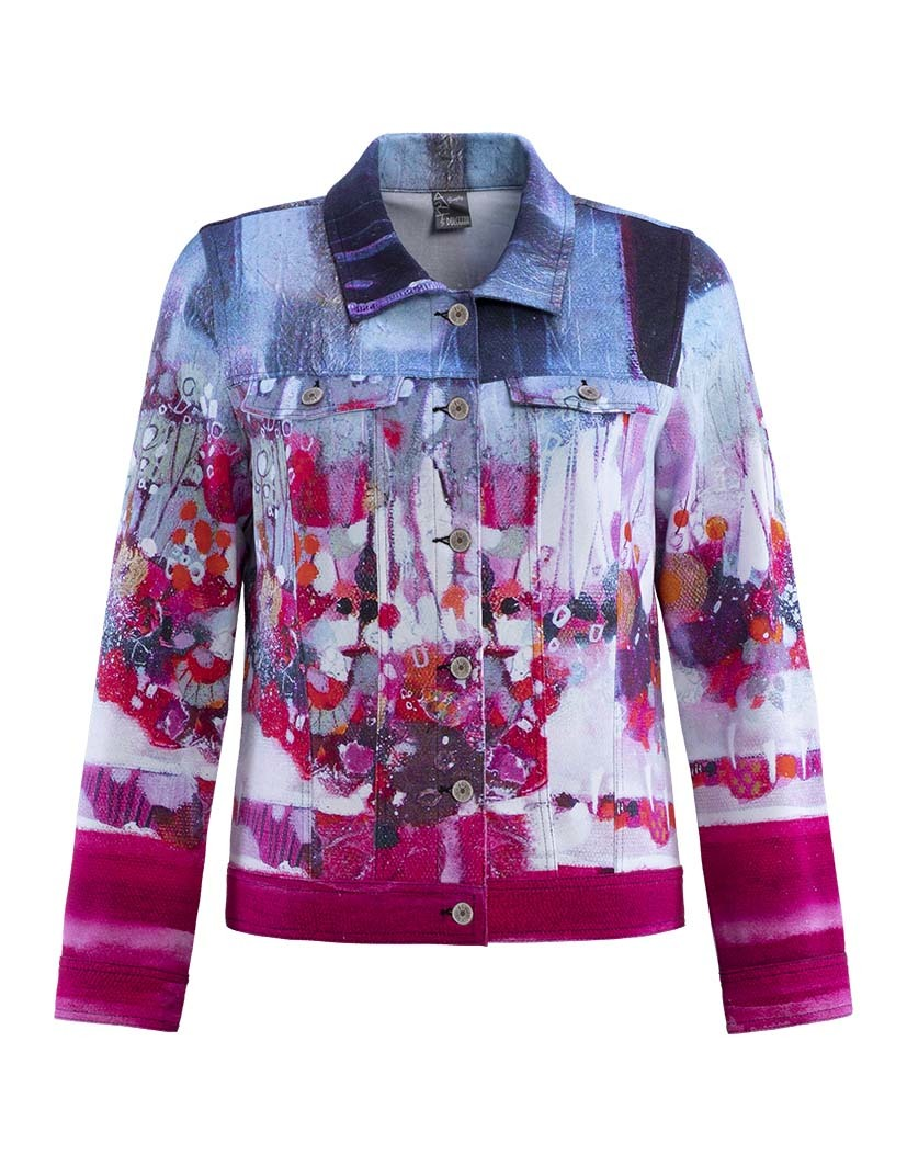 Simply Art Dolcezza: Fuschia Candy Storm Abstract Art Jacket (2 Left!) DOLCEZZA_SIMPLYART_19658