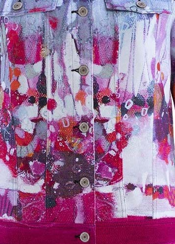 Simply Art Dolcezza: Fuschia Candy Storm Abstract Art Jacket (2 Left!)